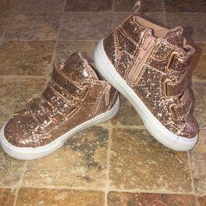 NWOT Gap Glitter High-Top Sneakers
